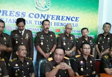 Press conference Kejati Bengkulu